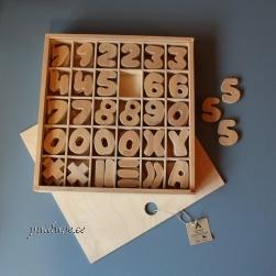 Numbrite komplekt naturaalsest puidust - Astangu KRK