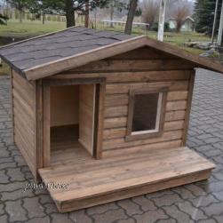 Soojustatud koerakuut BÖSE keskmist kasvu koerale (terrassiga)