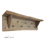 Coat Rack From Unedged Board
