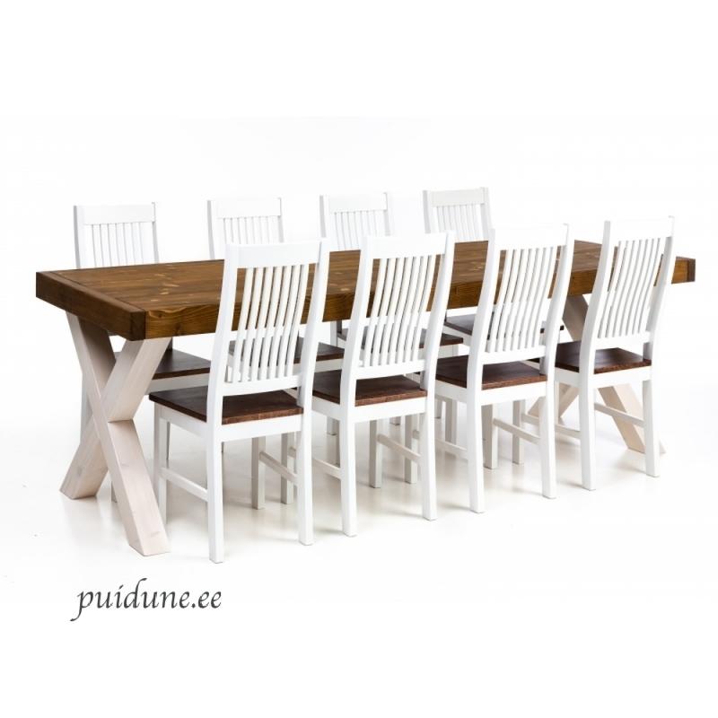 Söögilaud ja 8 tooli