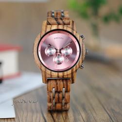 Naiste puidust käekell BBN002 kronograaf