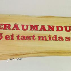 """Humoorikas silt """"Eräumandus"""""""