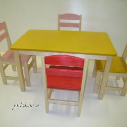 Kandiline laud ja 4 tooli
