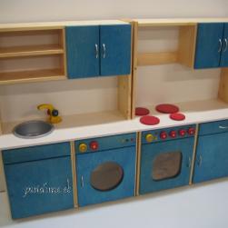 Sektsioon mängukööki (kasevineerist, sinine)
