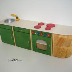 Roheline mänguköök moodulitena (pane ise komplekt kokku)