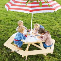Kuusnurkne laste piknikulaud