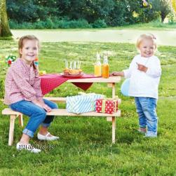 Laste piknikulaud ilma seljatoeta