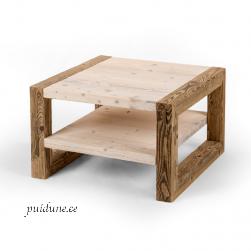 Riiuliga kohvilaud AWCOL keskmine (taaskasutatud puidust)