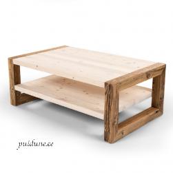 Riiuliga kohvilaud AWCOL suur (taaskasutatud puidust)