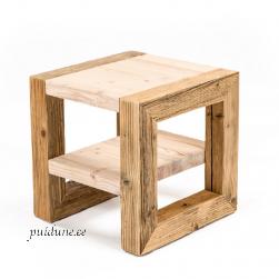 Riiuliga kohvilaud AWCOL väike (taaskasutatud puidust)