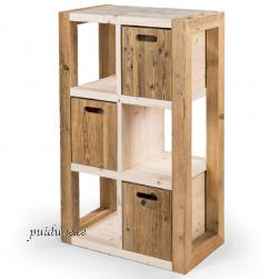 Sahtlitega riiul AWCOL 01 (taaskasutatud puidust)