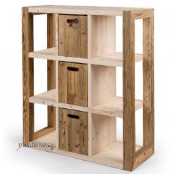 Sahtlitega riiul AWCOL 02 (taaskasutatud puidust)