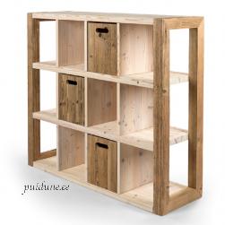 Sahtlitega riiul AWCOL 03 (taaskasutatud puidust)