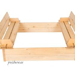 Liivakast istmetega (124x124 cm)