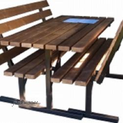 Aialaud ja 2 tooli (metallraamiga, kokkupandav)