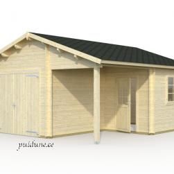 Garaaž Roger puitväravaga (21,9 m²+ 5,2 m²)