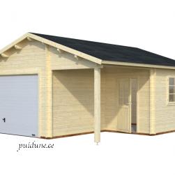 Garaaž Roger tõstetava sektsioonuksega (21,9 m²+ 5,2 m²)