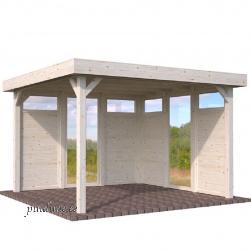 Aiapaviljon Lucy 4 puidust ja 2 klaasist seinaelementidega (12,2 m²)