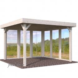 Aiapaviljon Lucy 6 klaaselemendiga (12,2 m²)