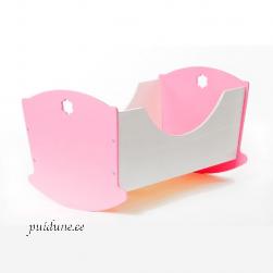 Nukuhäll Liisi 33 cm (roosa või punase peatsi ja jalutsiga)