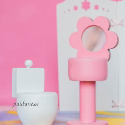 Vannitoamööbel nukule (komplekt)