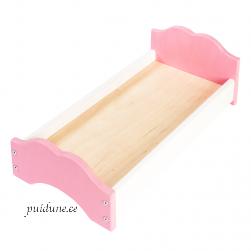 Nukuvoodi Liisi 50 cm (roosa peatsi ja jalutsiga)