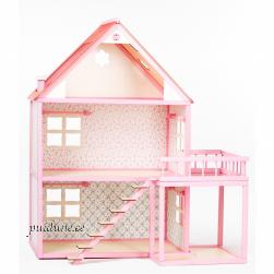 Nukumaja Roosi rõduga (kahekorruseline, punase katusega)