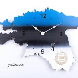 Seinakell EV100 logoga (lamineeritud vineer, sinimustvalge)