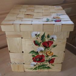 Kaanega laastust kast (naturaalne, moonide ja võililledega)
