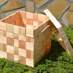 Kaanega kast (laastust, naturaalne)