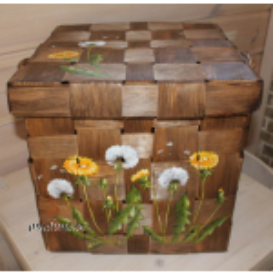 Kaanega laastust kast (peitsitud, pildiga)