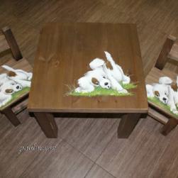 Lastelaud + 2 tooli (pildiga)