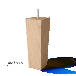 Puidust nelinurksed koonusjalad (kõrgus 18 cm, 4 tk, värvivalikuga)